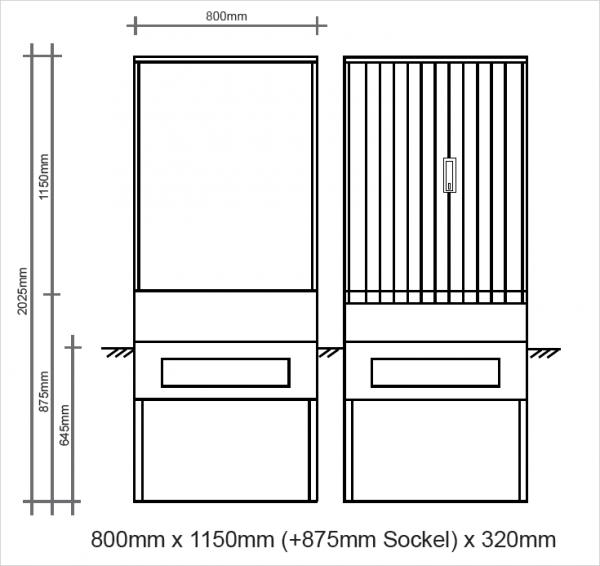Polyesterkabelverteiler 800x1150x320mm