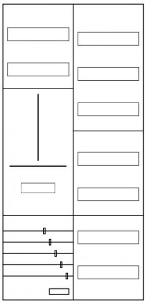 AZ22BS-210, Zählerverteilung mit 3-Punktbefestigun