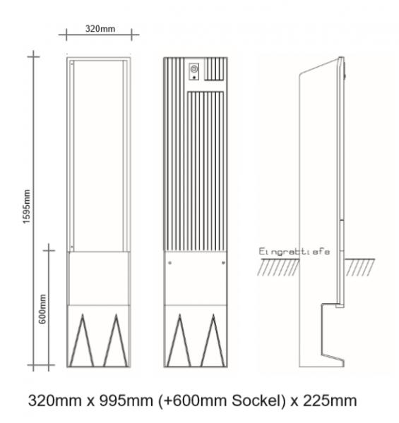 Kleinverteilersäule für den Außenbereich, PKV32-99
