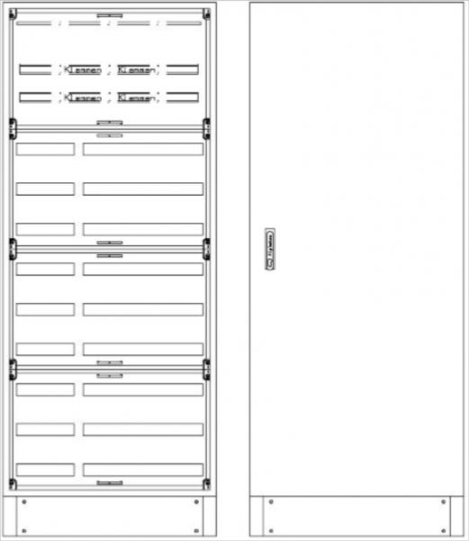 Standverteilung, SVB, BxHxT = 820x1870+130x300