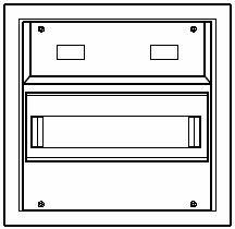 Aufputzkleinverteiler 1-reihig | Steckklemme