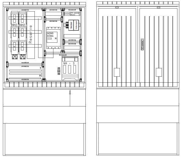 Verteiler mit NA-Abschaltung, PKVNA350-112-115ES