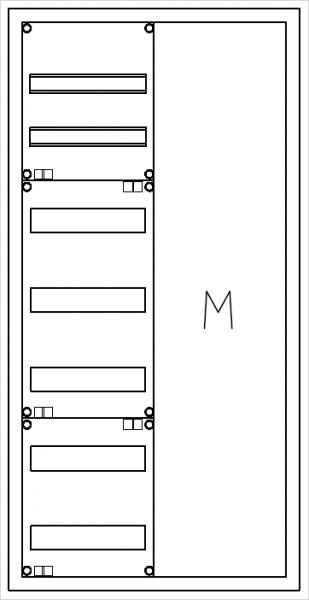 Automatenverteiler, AVK, BxHxT = 550x1100x140, M1