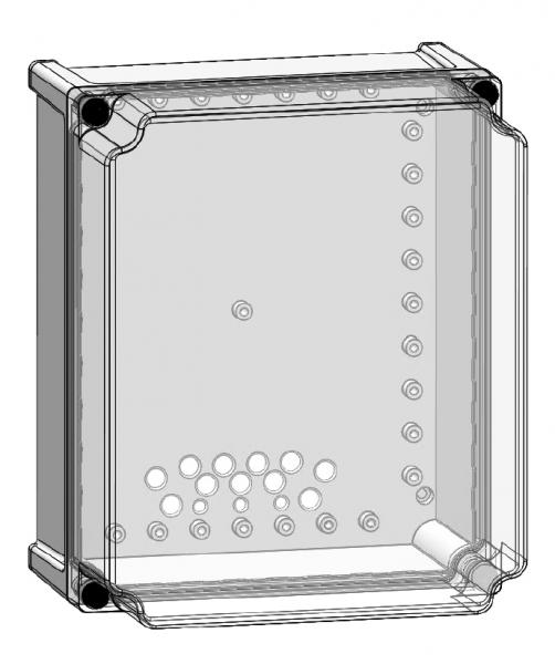Isolierstoff Wandgehäuse mit schraubbarem Deckel