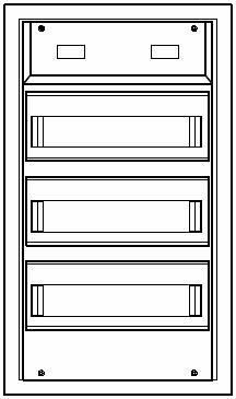 Aufputzkleinverteiler 3-reihig   Steckklemme