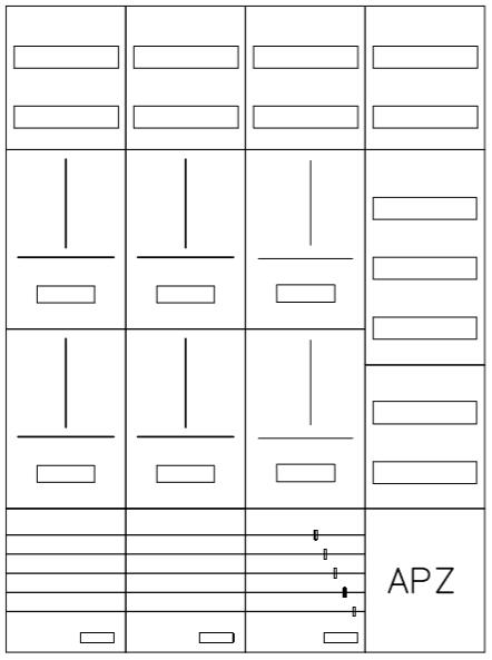 AZ82HS2A-210-6, Zählerverteilung mit 3-Punktbefest