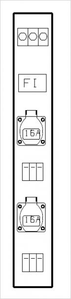 Systemleisten 100x710x165mm