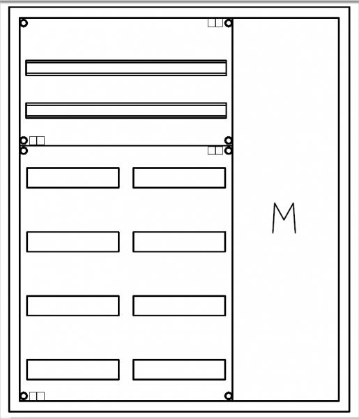 Automatenverteiler, UVK, BxHxT = 800x950x120, M1