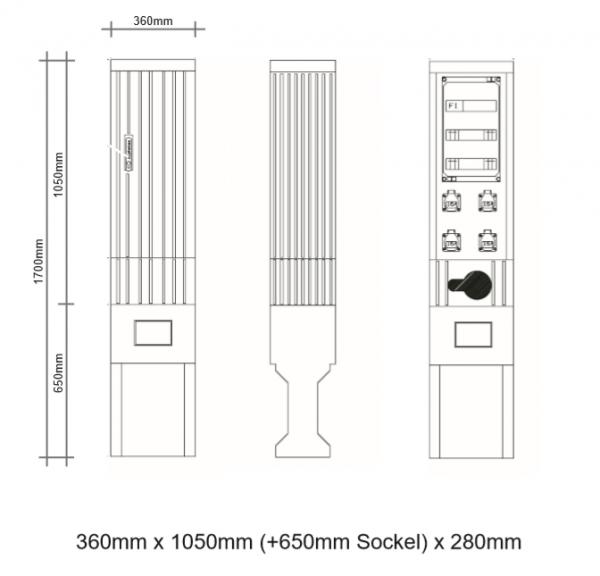 Kabelverteilerschrank für den Außenbereich, FPKV-4