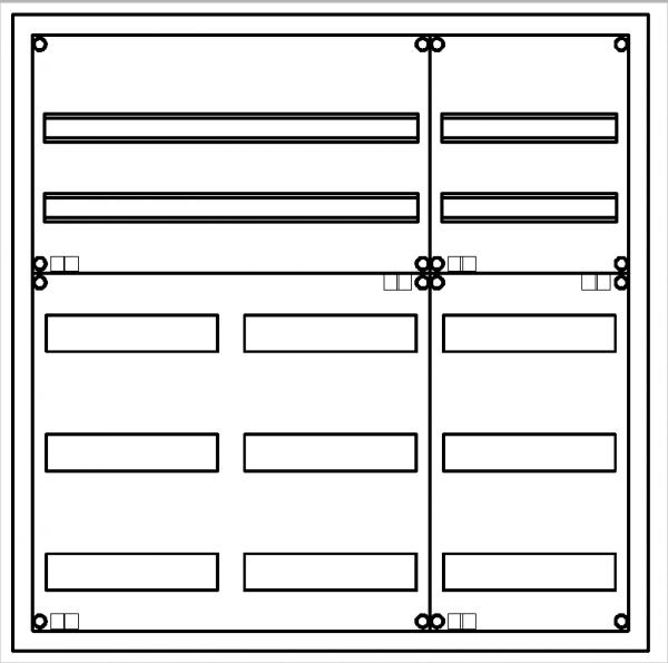 Automatenverteiler, UVK, BxHxT = 800x800x120, S