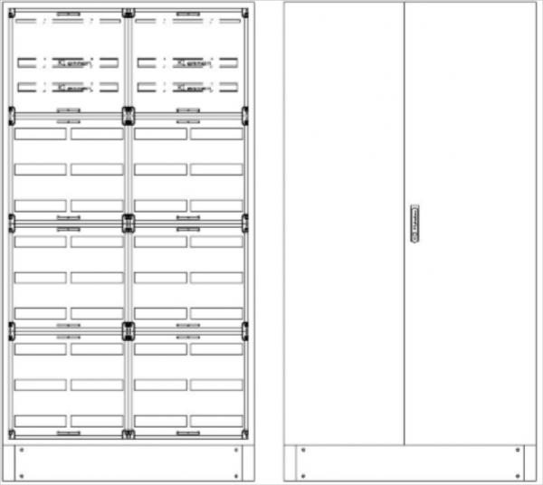 Standverteilung, SVK, BxHxT = 1070x1870+130x500