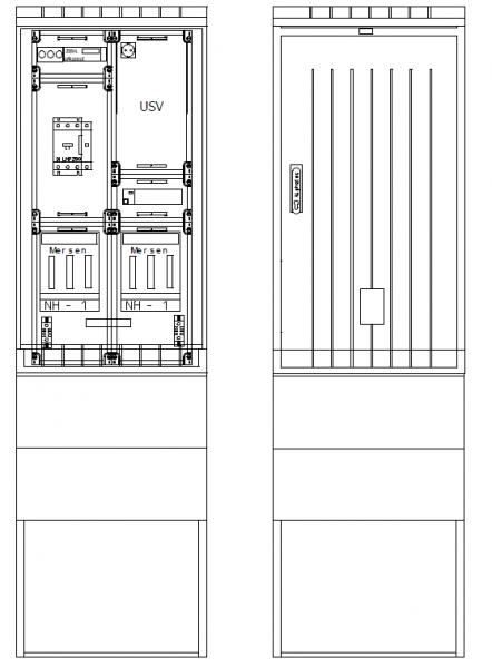 Verteiler mit NA-Abschaltung, PKVNA100-58-115ES