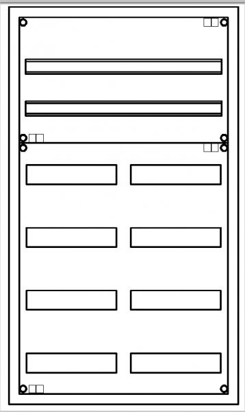 Automatenverteiler, AVK, BxHxT = 550x950x140