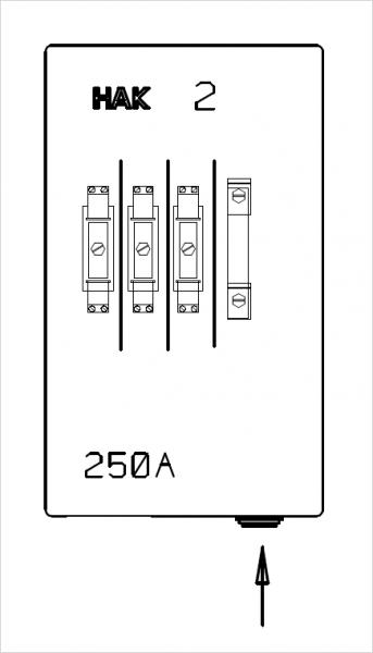 HAK Größe 2 | 250A | 1 Zuleitung