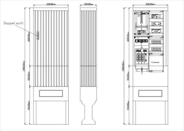 Wandlermessschränke für Straßenbeleuchtung 600x100