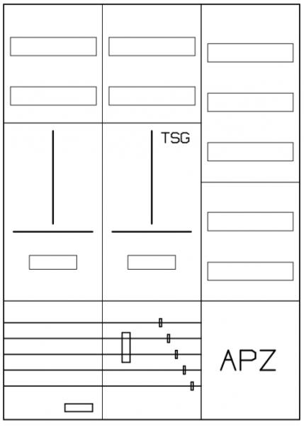 AZ32BSA-210, Zählerverteilung mit 3-Punktbefestigu