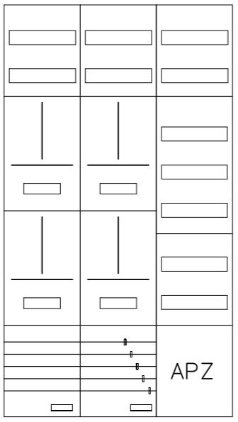 AZ62HS2A-210, Zählerverteilung mit 3-Punktbefestig