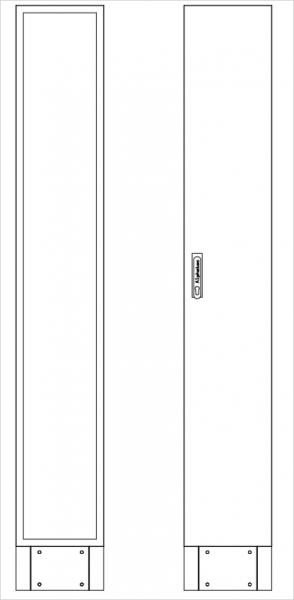 Leergehäuse Standverteilung, SVB, BxHxT = 320x1870