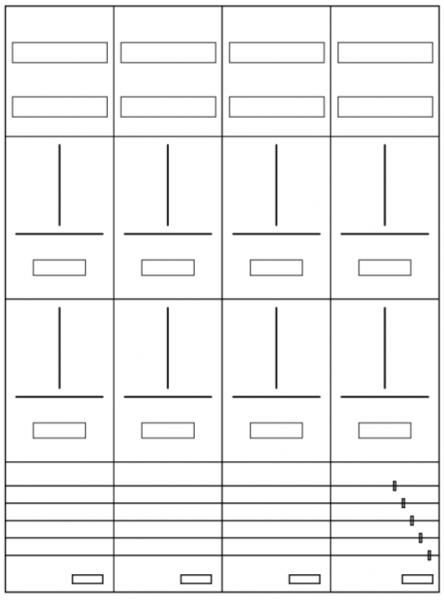AZ82H-210-8, Zählerverteilung mit 3-Punktbefestigu