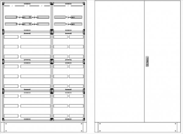 Standverteilung, SVK, BxHxT = 1320x1870+130x500