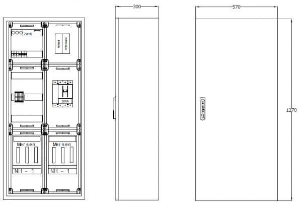 Wandverteiler mit NA-Abschaltung, AVKNA250-2-8-300