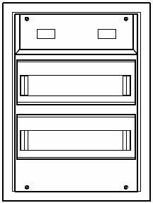 Aufputzkleinverteiler 2-reihig | Steckklemme