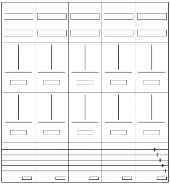 AZ102H-210-10, Zählerverteilung mit 3-Punktbefesti