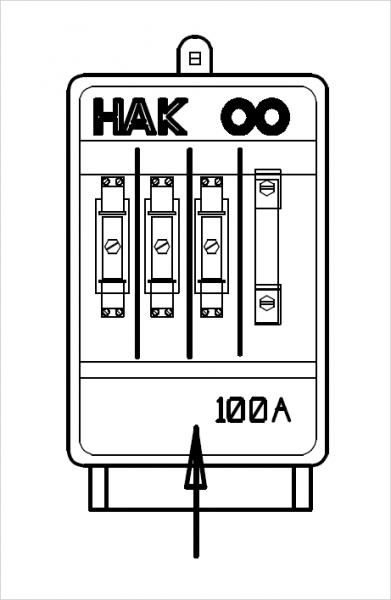 HAK Größe 00 | 100A