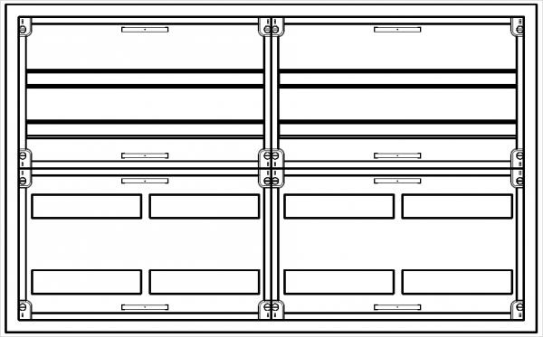 Automatenverteiler, AVB, BxHxT = 1050x650x210
