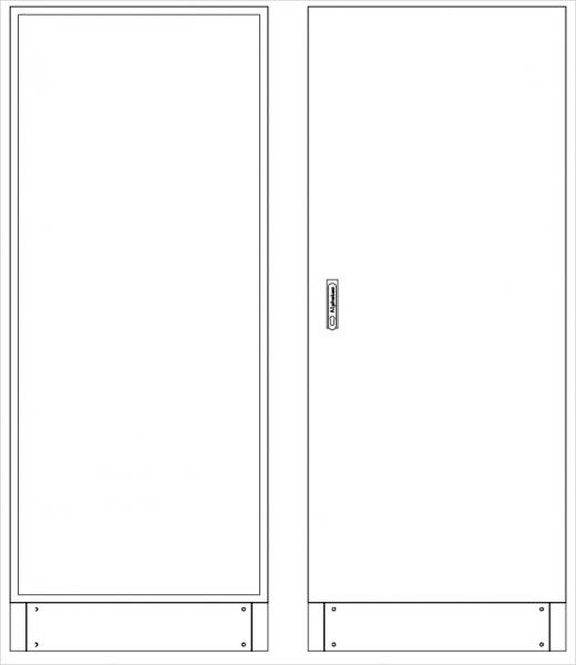 Leergehäuse Standverteilung, SVK, BxHxT = 800x1850