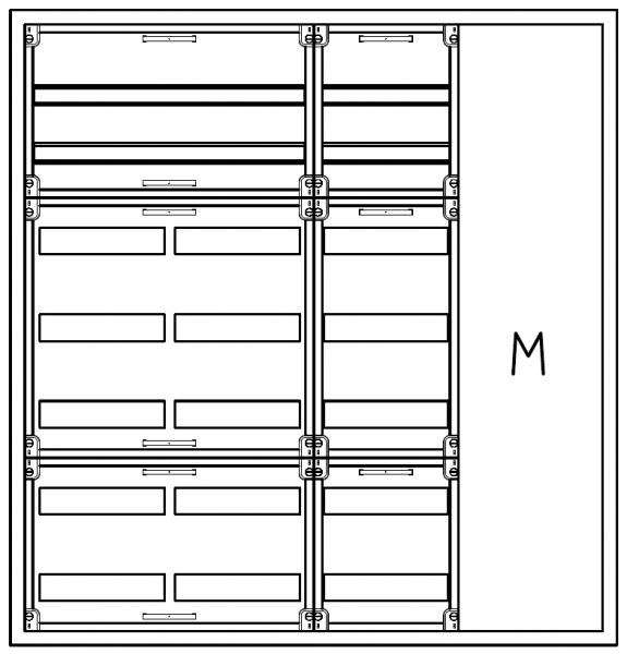 Automatenverteiler, AVB, BxHxT = 1050x1100x210, M1
