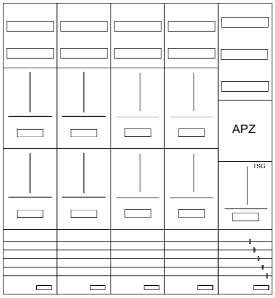 AZ102HS1A-210, Zählerverteilung mit 3-Punktbefesti
