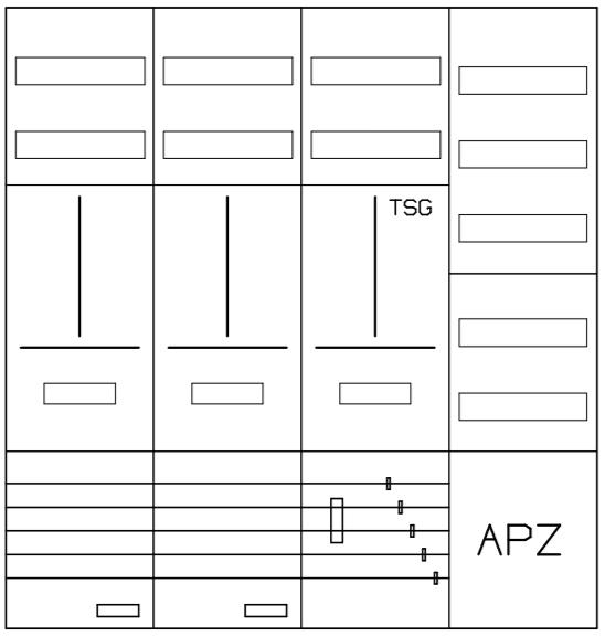 AZ42BSA-210, Zählerverteilung mit 3-Punktbefestigu