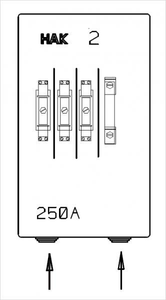 HAK Größe 2 | 250A | 2 Zuleitungen